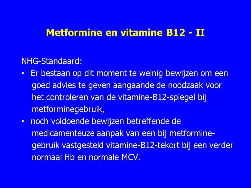 Metformine en vitamine B12 - II