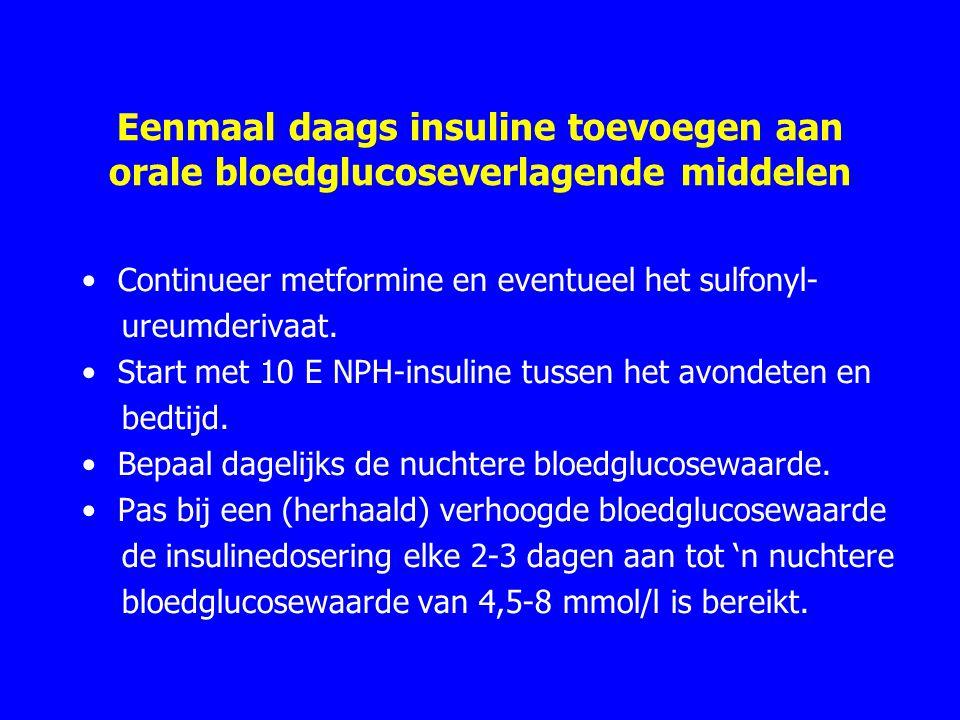 Eenmaal daags insuline toevoegen aan orale bloedglucoseverlagende middelen