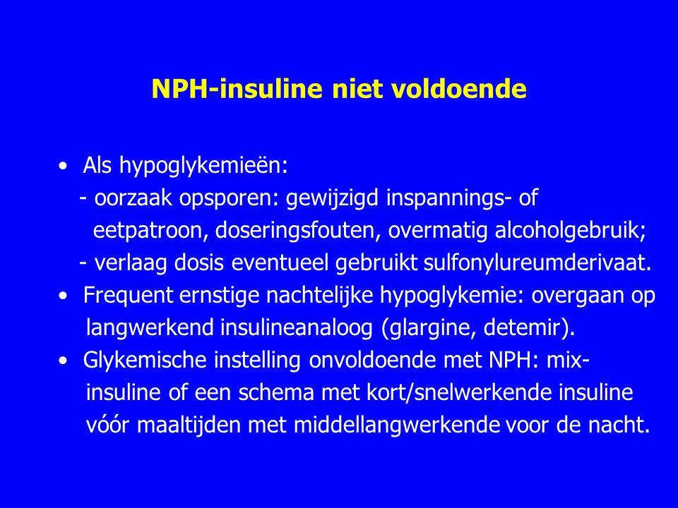 NPH-insuline niet voldoende