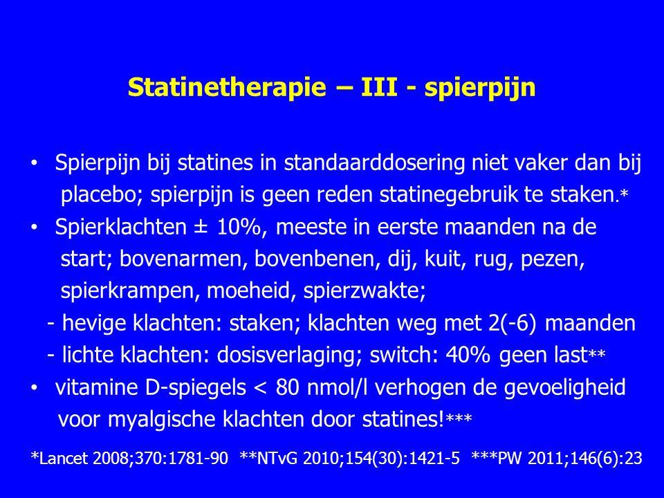 Statinetherapie – III - spierpijn