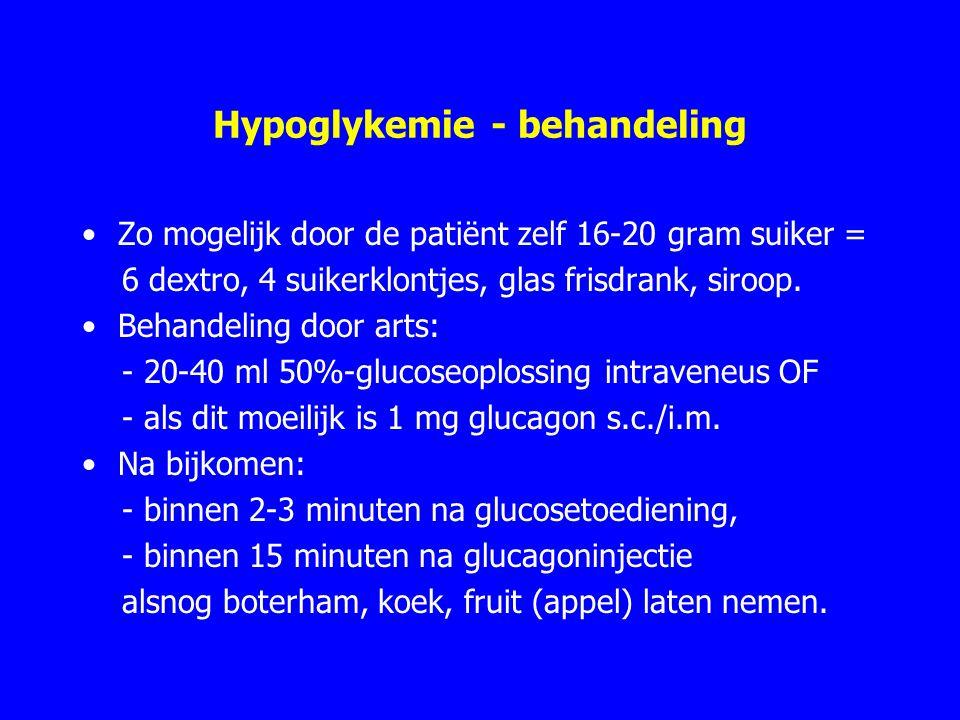 Hypoglykemie - behandeling