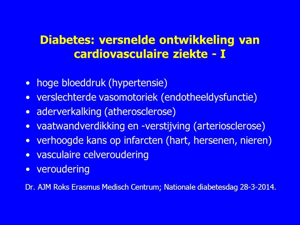 Diabetes: versnelde ontwikkeling van cardiovasculaire ziekte - I