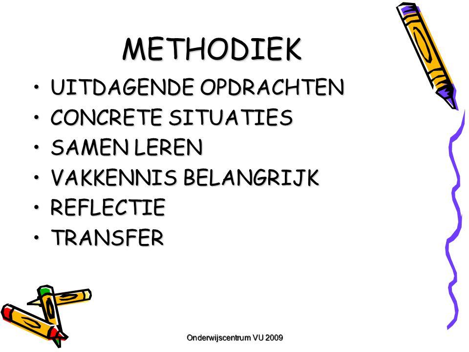 METHODIEK UITDAGENDE OPDRACHTEN CONCRETE SITUATIES SAMEN LEREN
