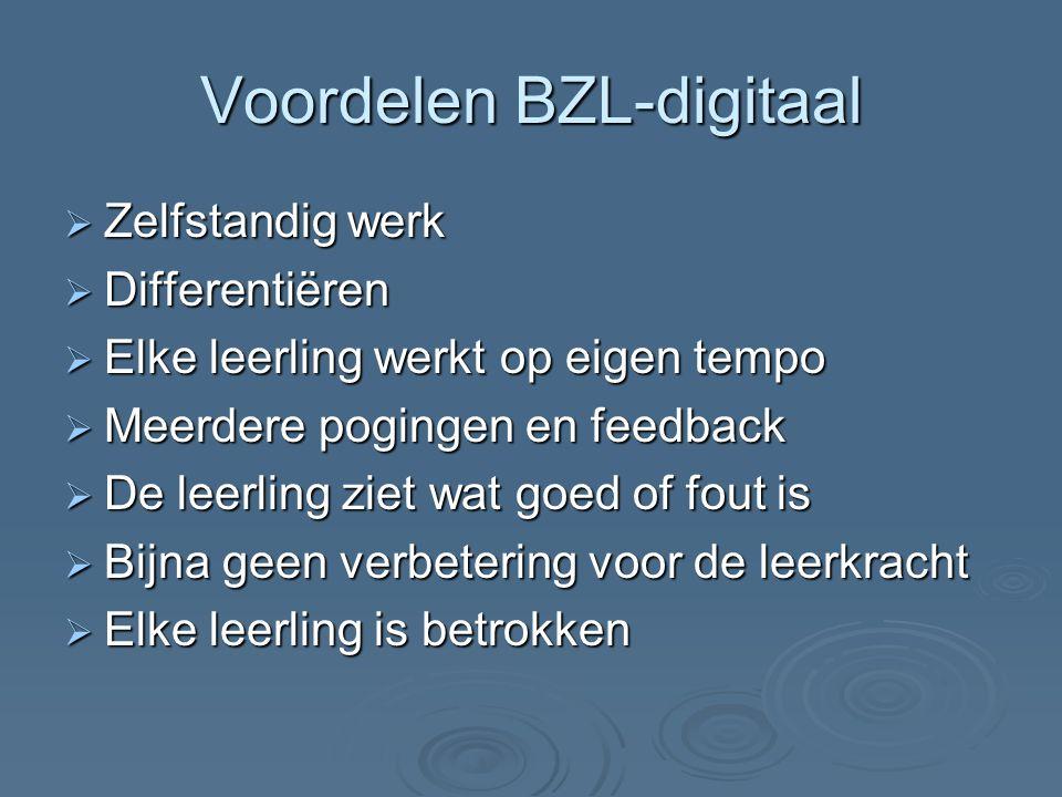 Voordelen BZL-digitaal