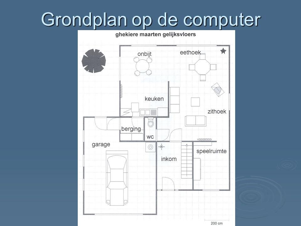 Grondplan op de computer