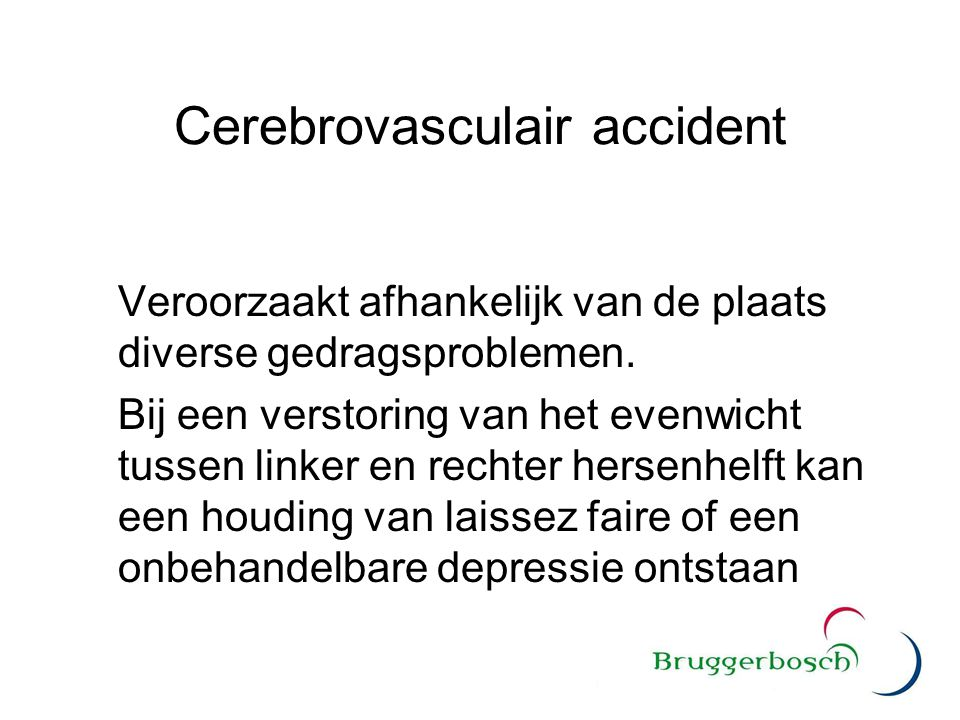 Cerebrovasculair accident
