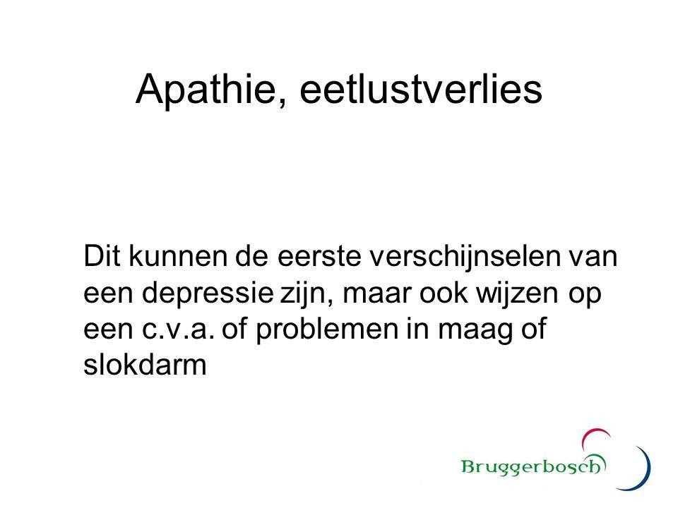 Apathie, eetlustverlies