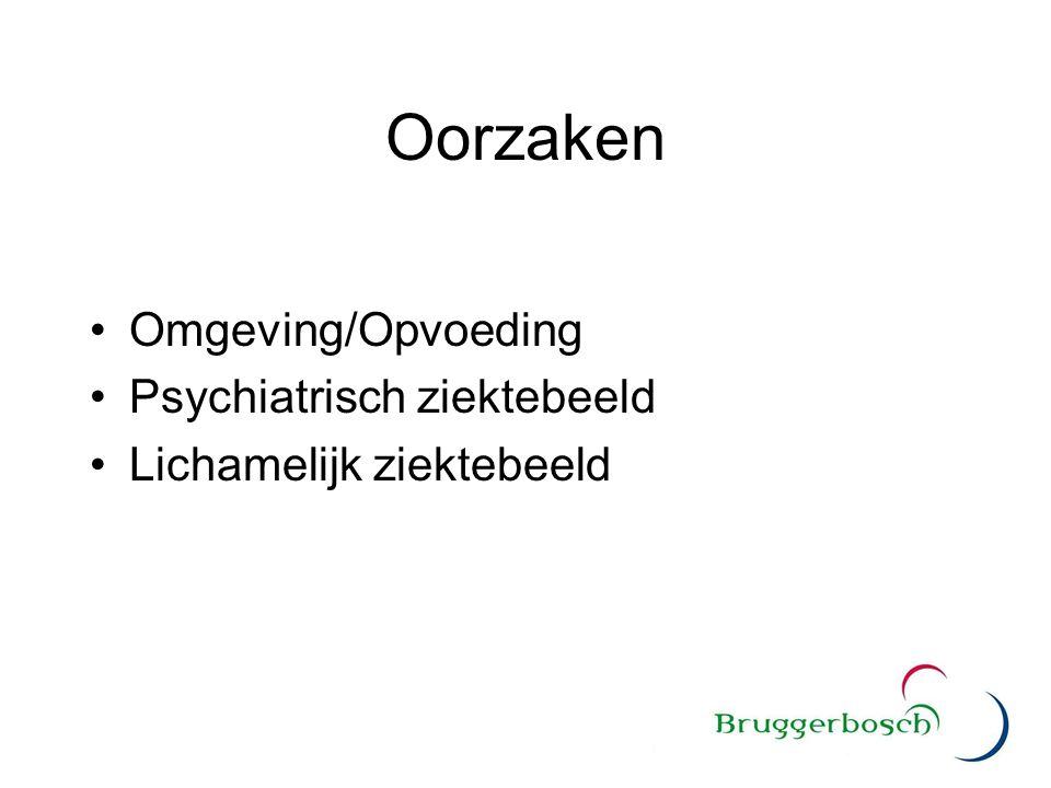 Oorzaken Omgeving/Opvoeding Psychiatrisch ziektebeeld