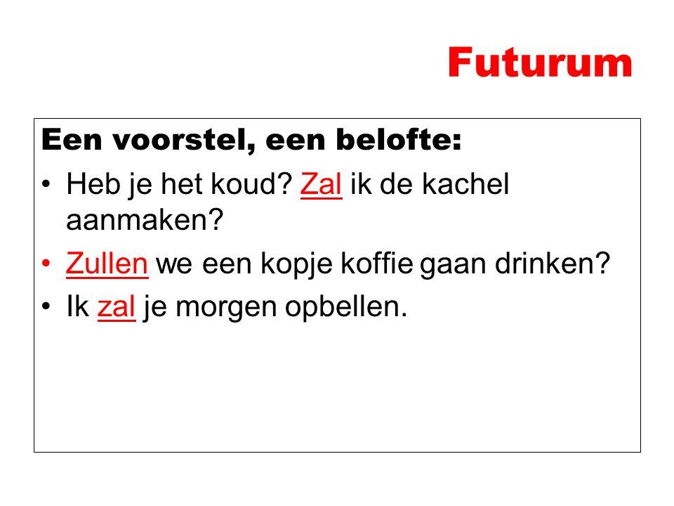 Futurum Een voorstel, een belofte: