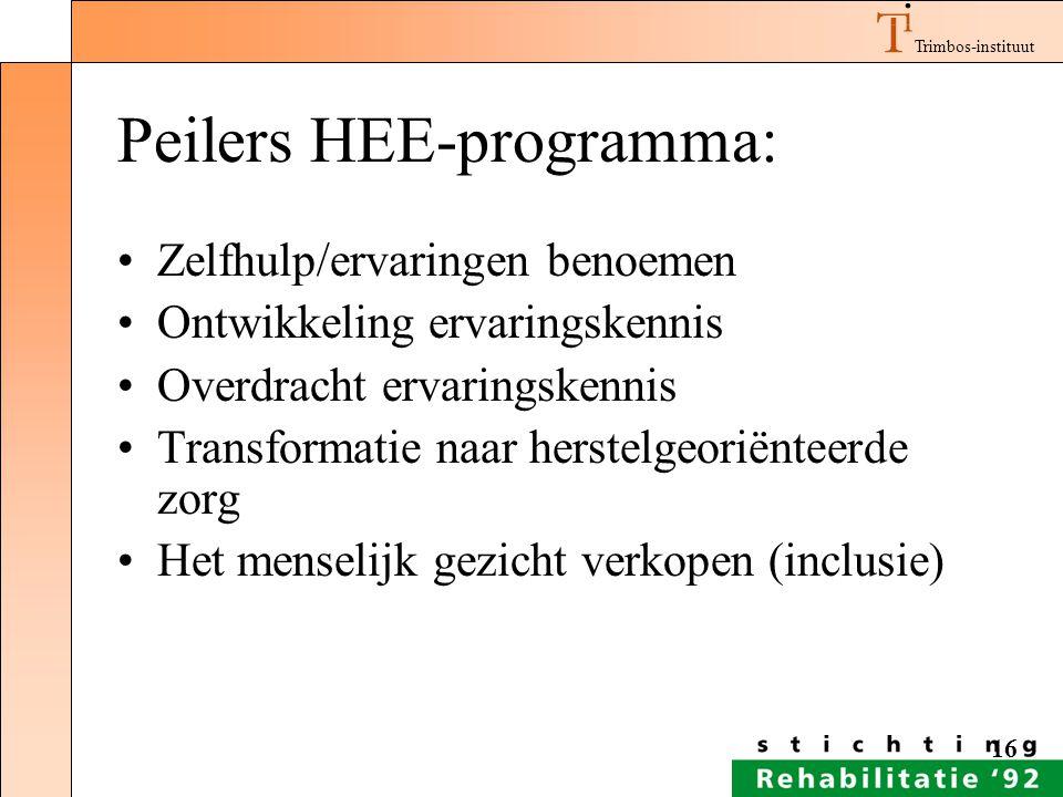 Peilers HEE-programma: