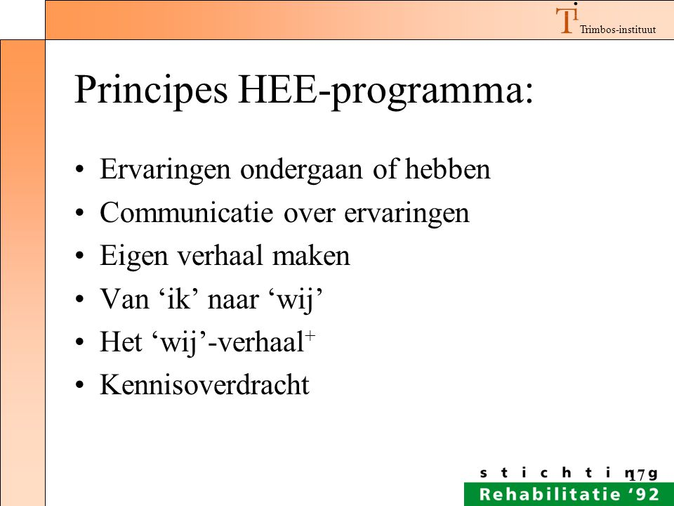 Principes HEE-programma: