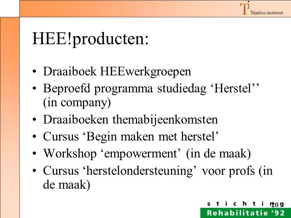 HEE!producten: Draaiboek HEEwerkgroepen