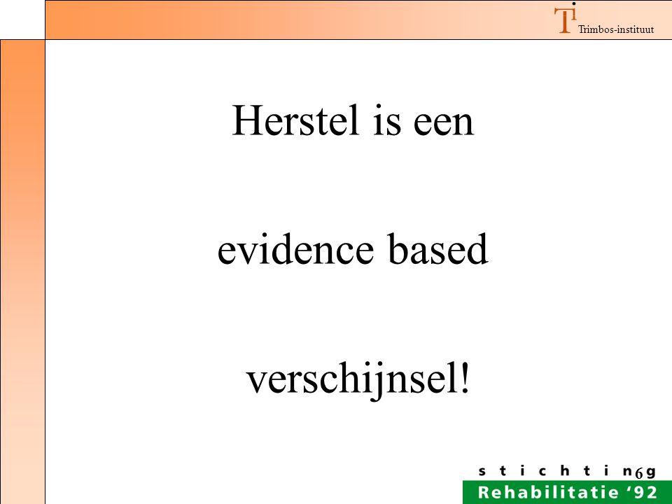 Herstel is een evidence based verschijnsel!