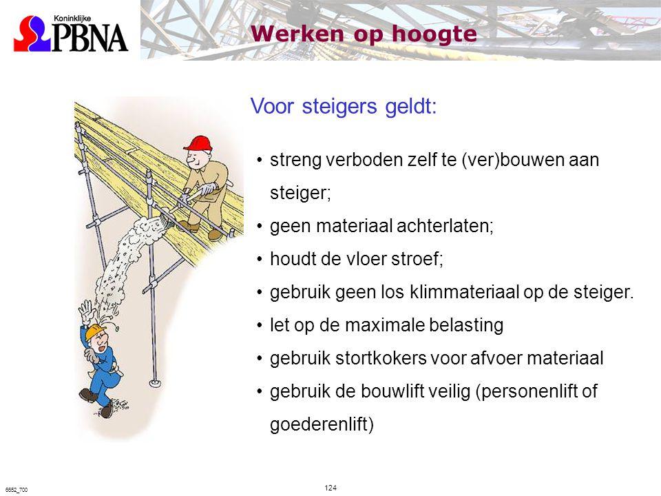 Werken op hoogte Voor steigers geldt:
