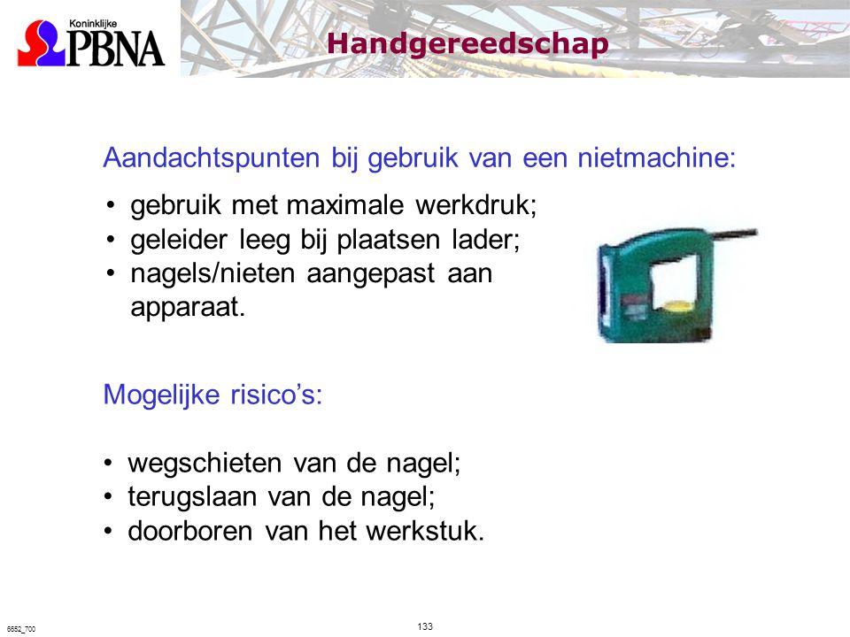 Aandachtspunten bij gebruik van een nietmachine: