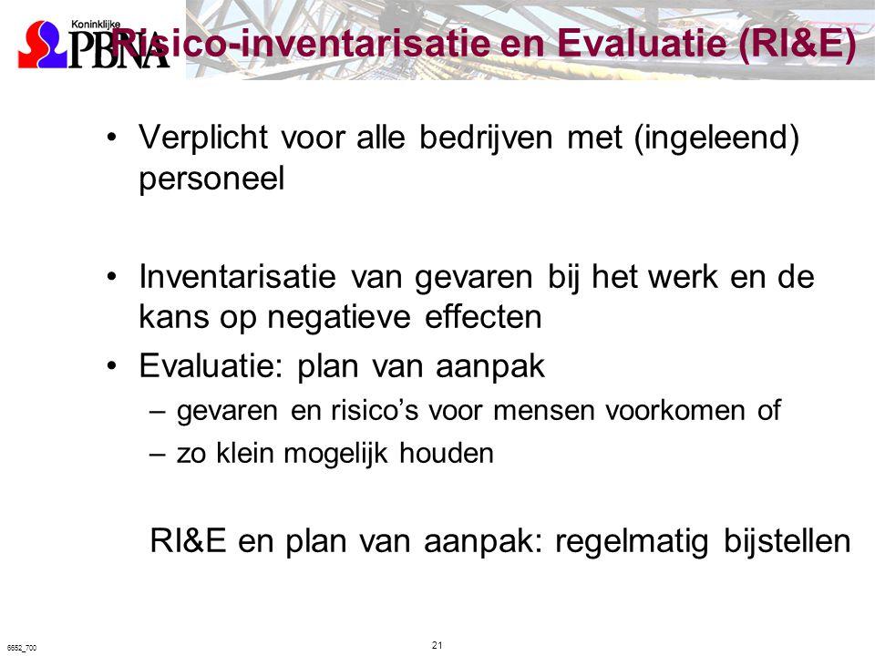 Risico-inventarisatie en Evaluatie (RI&E)