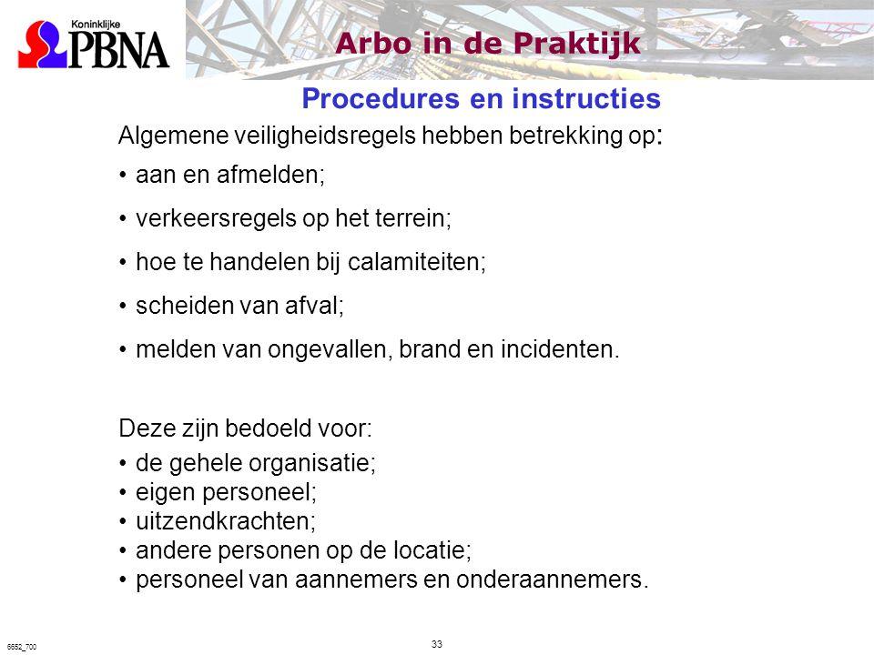 Procedures en instructies