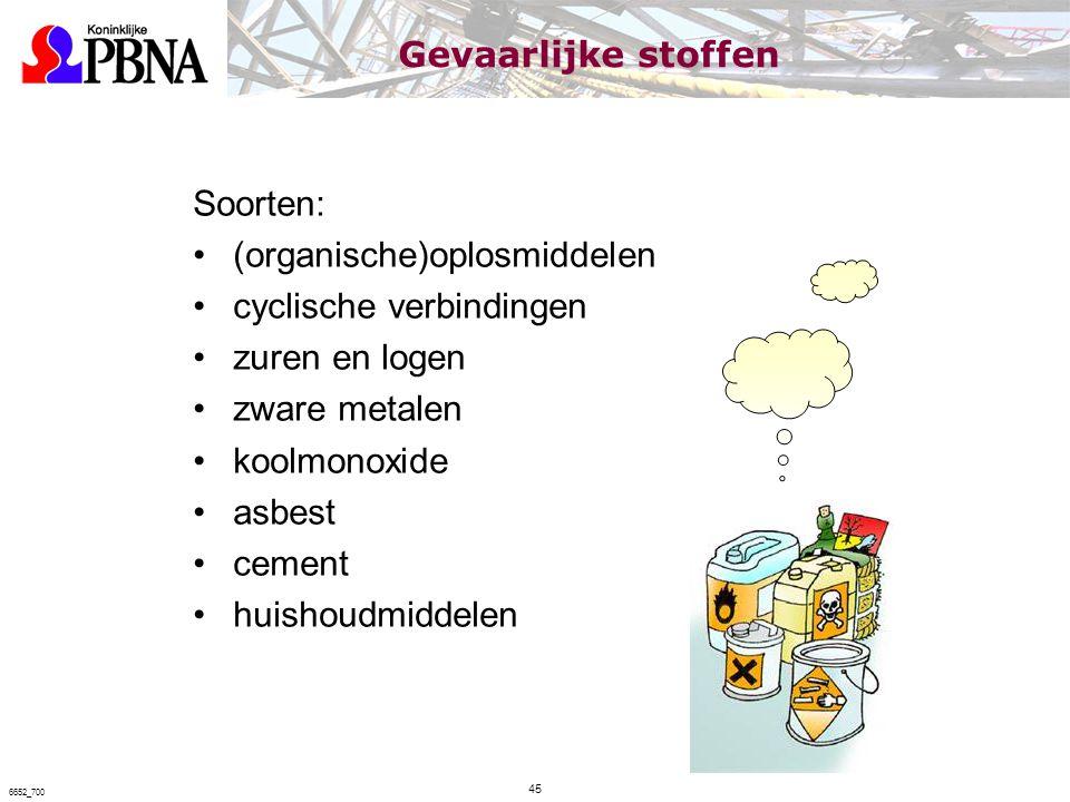 (organische)oplosmiddelen cyclische verbindingen zuren en logen