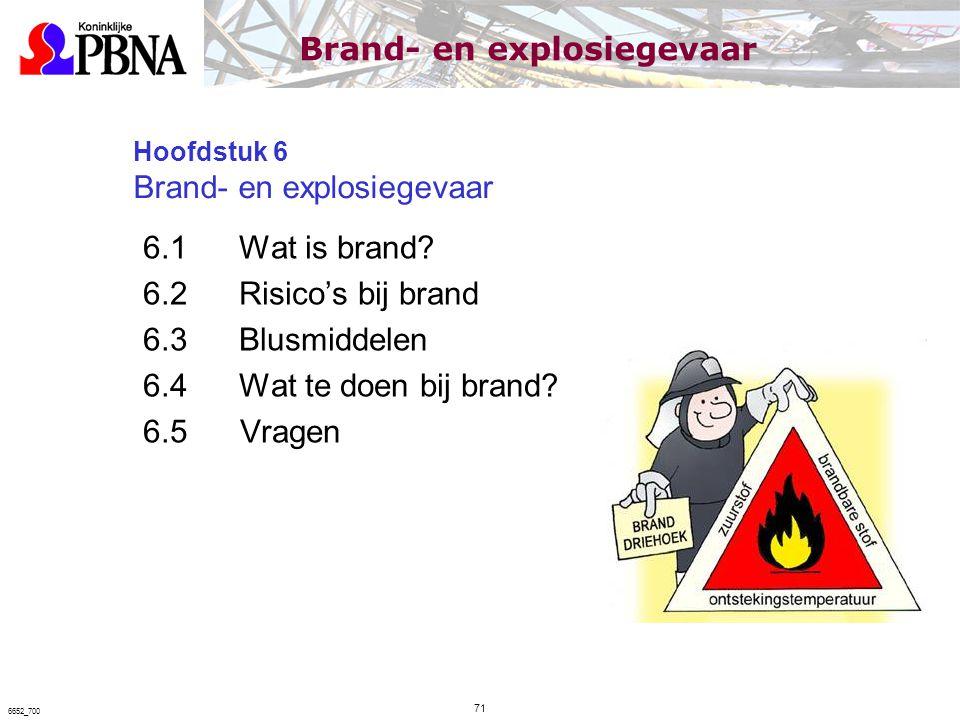 Hoofdstuk 6 Brand- en explosiegevaar