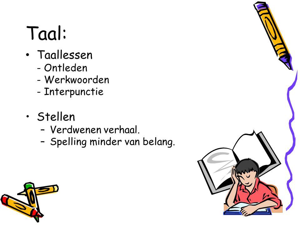 Taal: Taallessen Stellen - Ontleden - Werkwoorden - Interpunctie