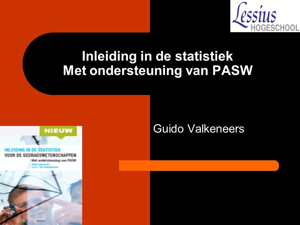 Inleiding in de statistiek Met ondersteuning van PASW
