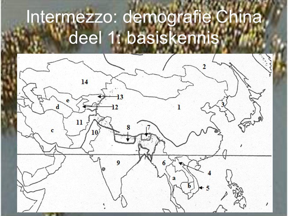 Intermezzo: demografie China deel 1: basiskennis