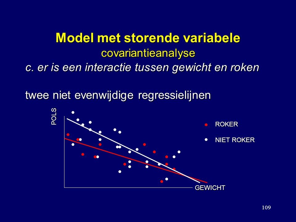 Model met storende variabele covariantieanalyse
