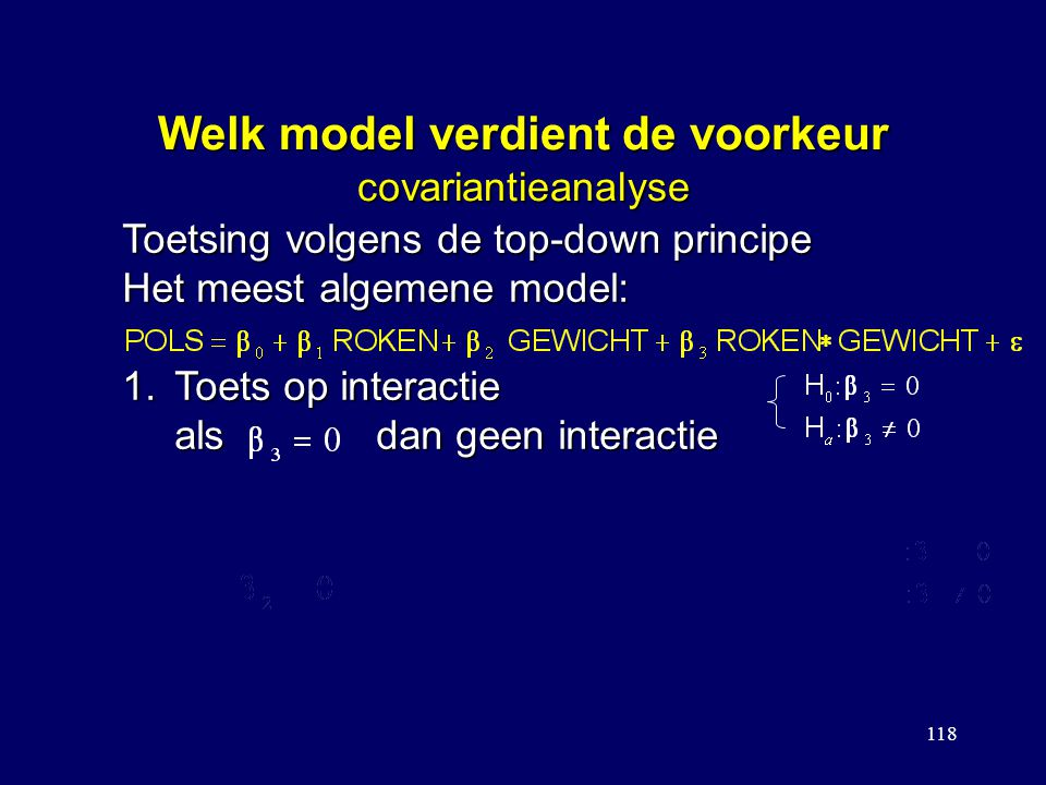 Welk model verdient de voorkeur covariantieanalyse