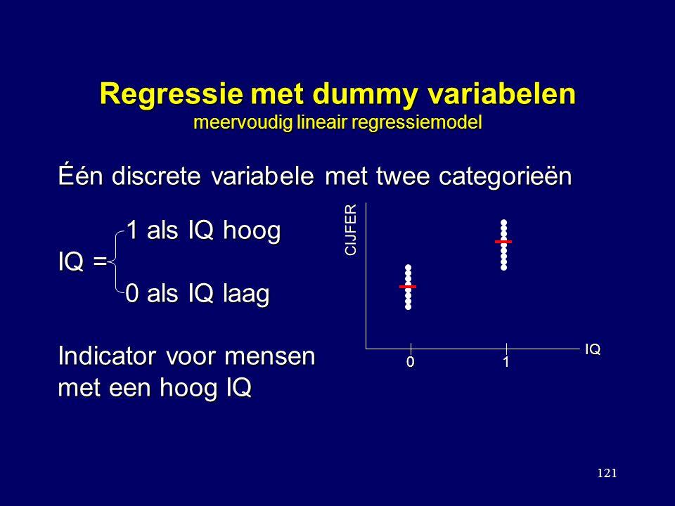 Regressie met dummy variabelen meervoudig lineair regressiemodel