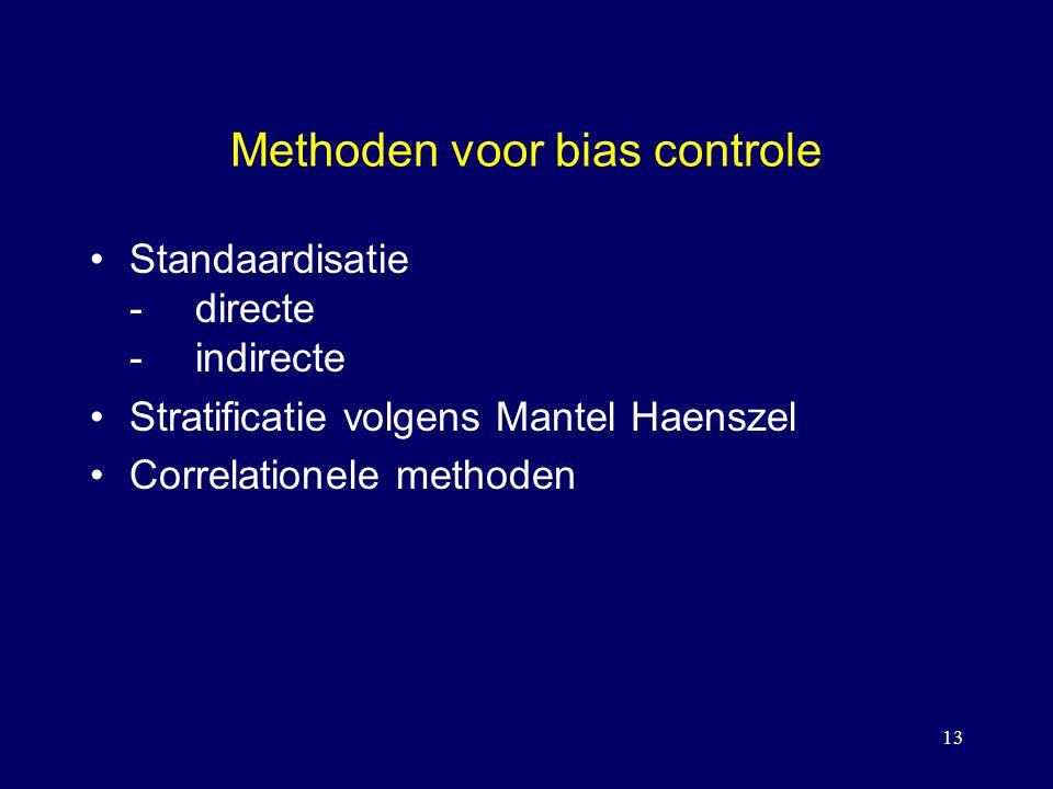 Methoden voor bias controle