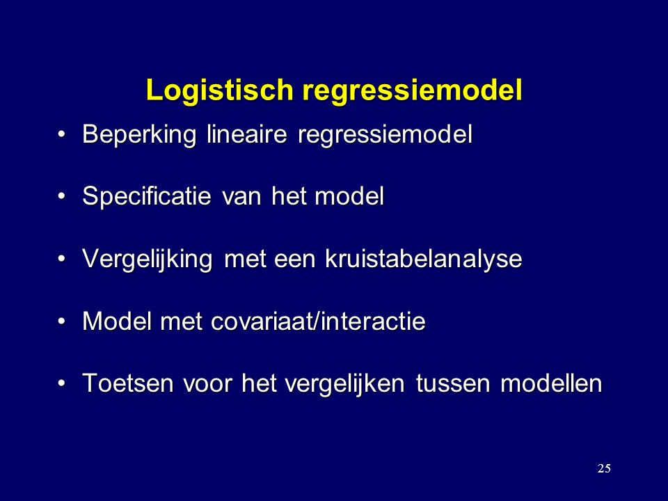 Logistisch regressiemodel