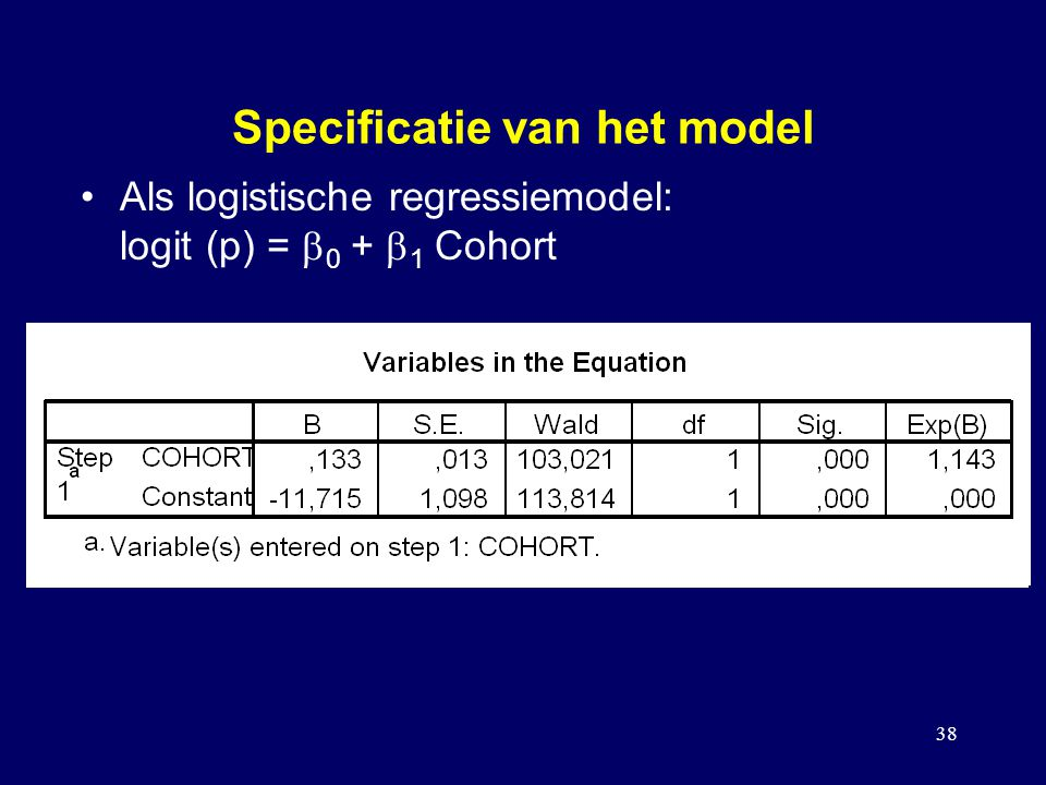Specificatie van het model