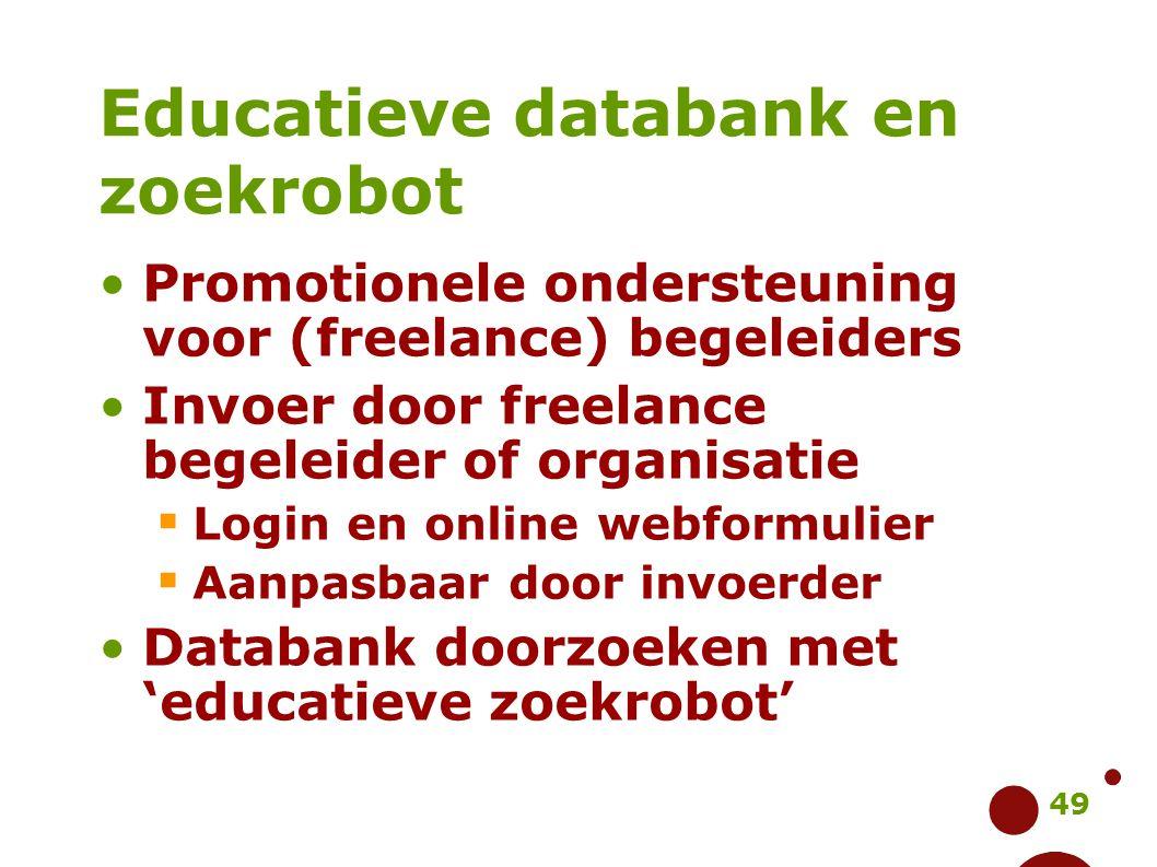 Educatieve databank en zoekrobot