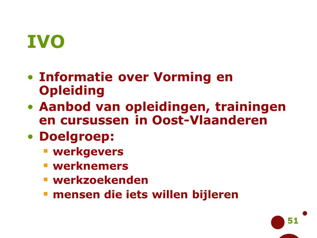 IVO Informatie over Vorming en Opleiding