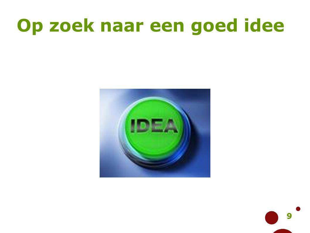Op zoek naar een goed idee