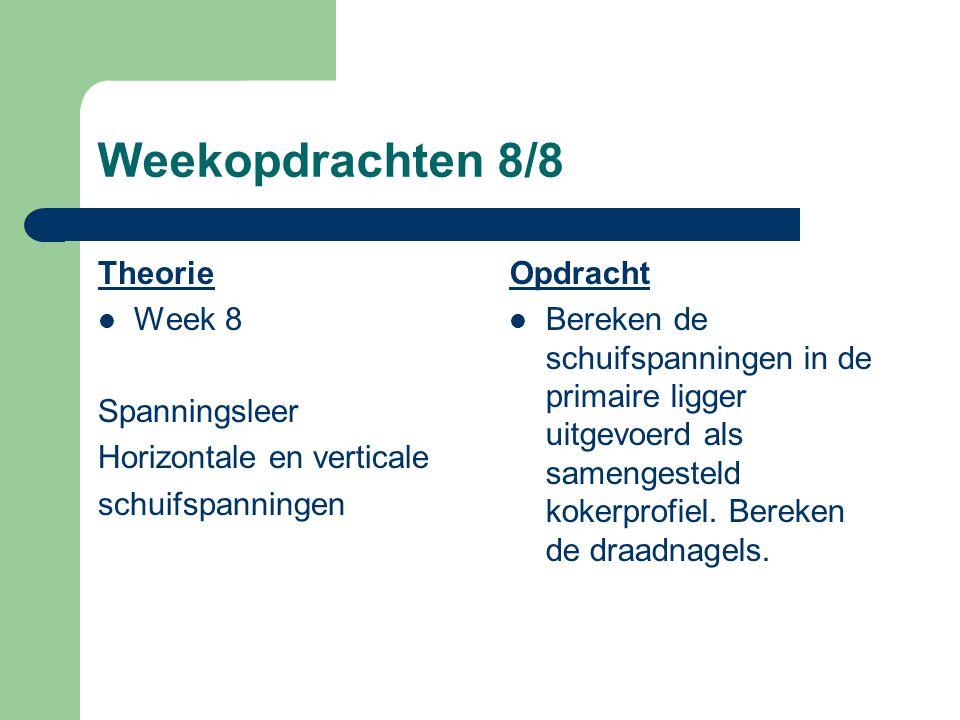 Weekopdrachten 8/8 Theorie Week 8 Spanningsleer