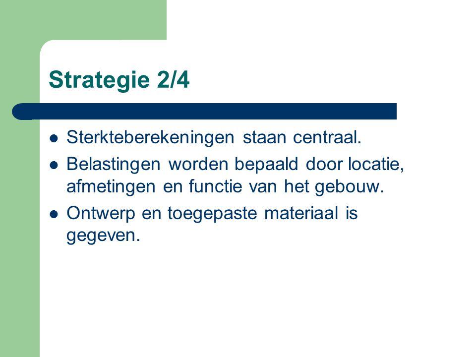 Strategie 2/4 Sterkteberekeningen staan centraal.