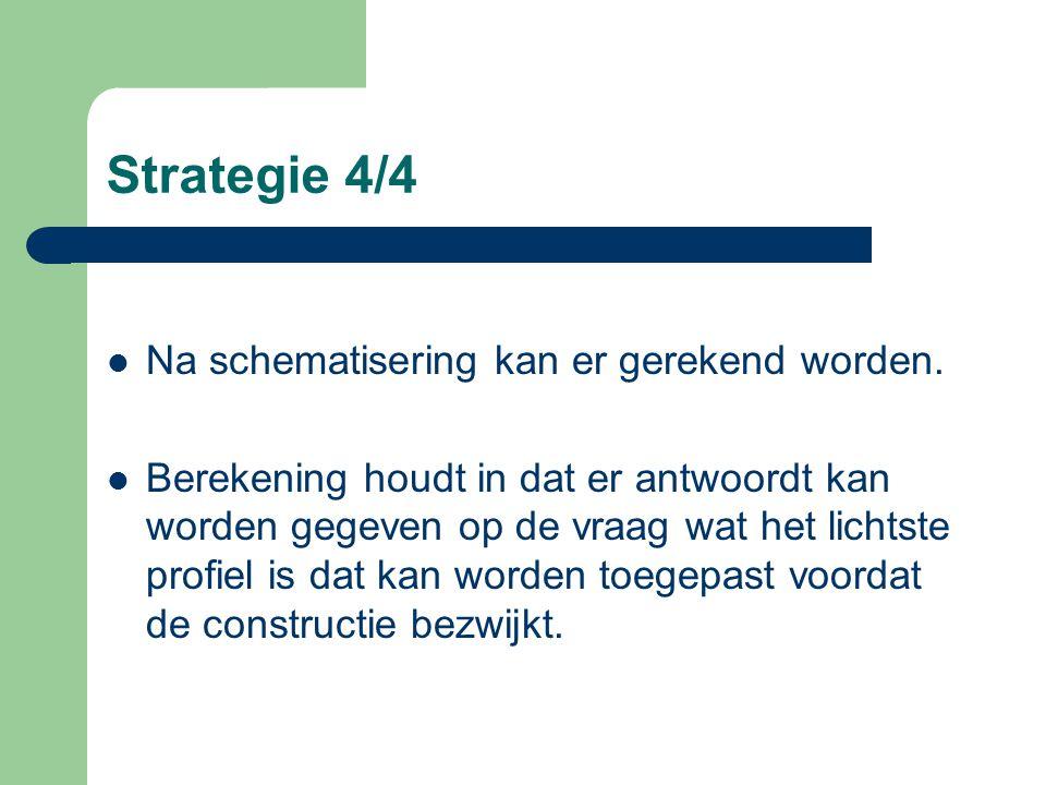 Strategie 4/4 Na schematisering kan er gerekend worden.