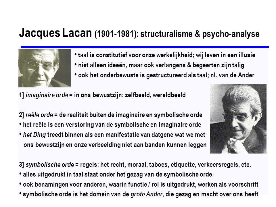 Jacques Lacan (1901-1981): structuralisme & psycho-analyse