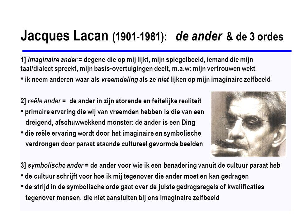 Jacques Lacan (1901-1981): de ander & de 3 ordes