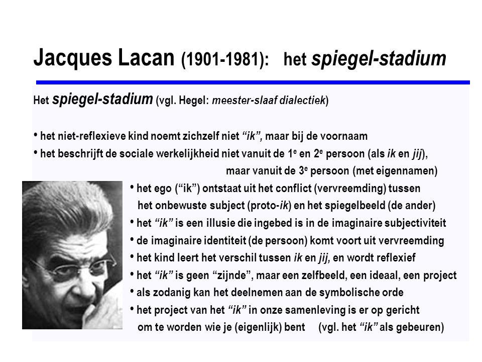 Jacques Lacan (1901-1981): het spiegel-stadium