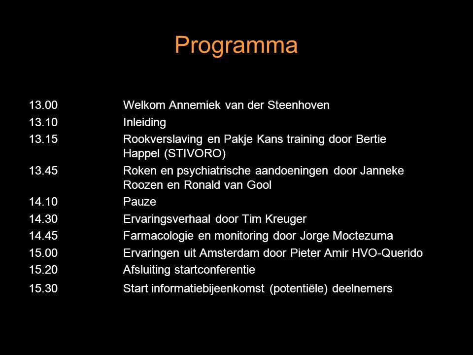 Programma 13.00 Welkom Annemiek van der Steenhoven 13.10 Inleiding