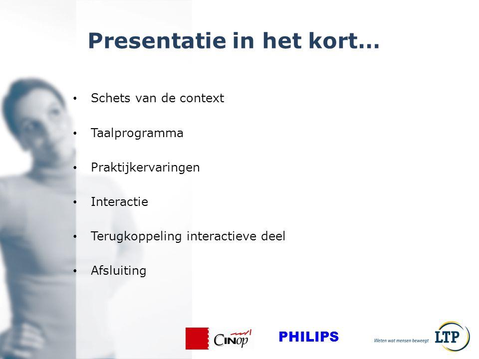 Presentatie in het kort…
