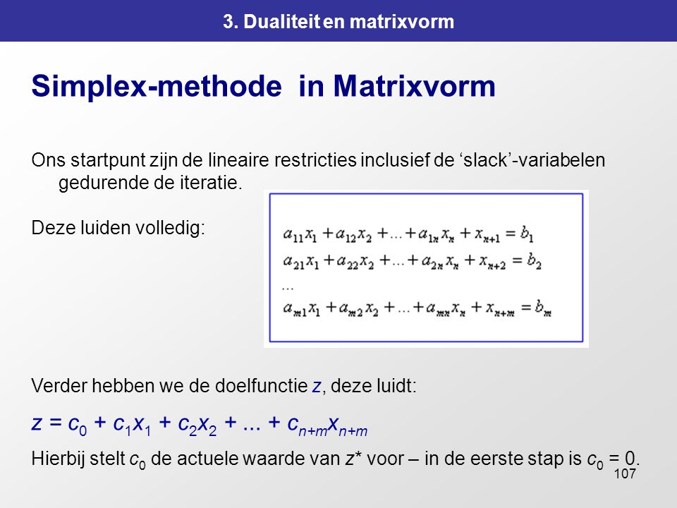 3. Dualiteit en matrixvorm