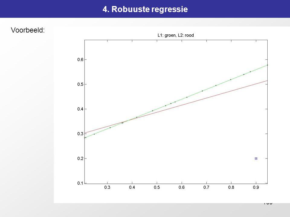4. Robuuste regressie Voorbeeld: