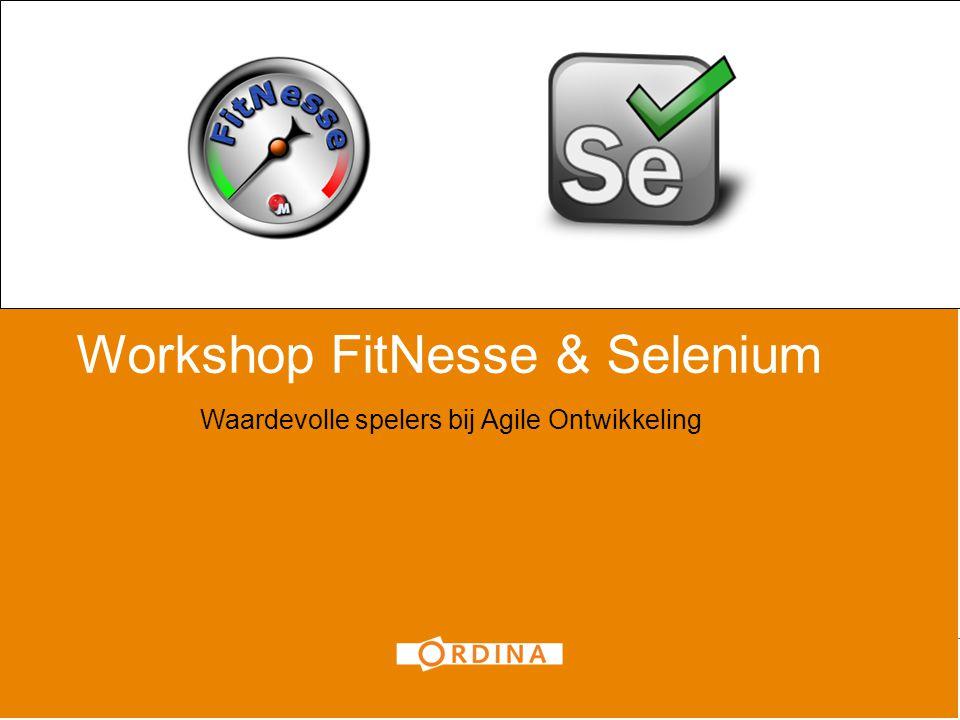 Workshop FitNesse & Selenium