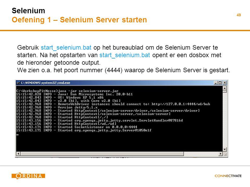 Selenium Oefening 1 – Selenium Server starten