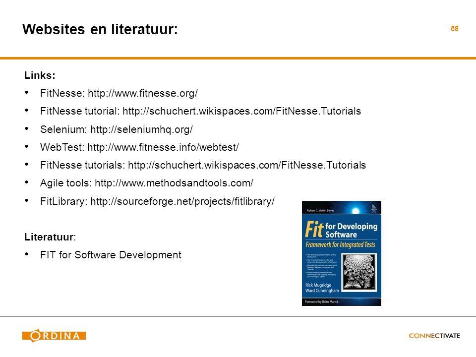 Websites en literatuur: