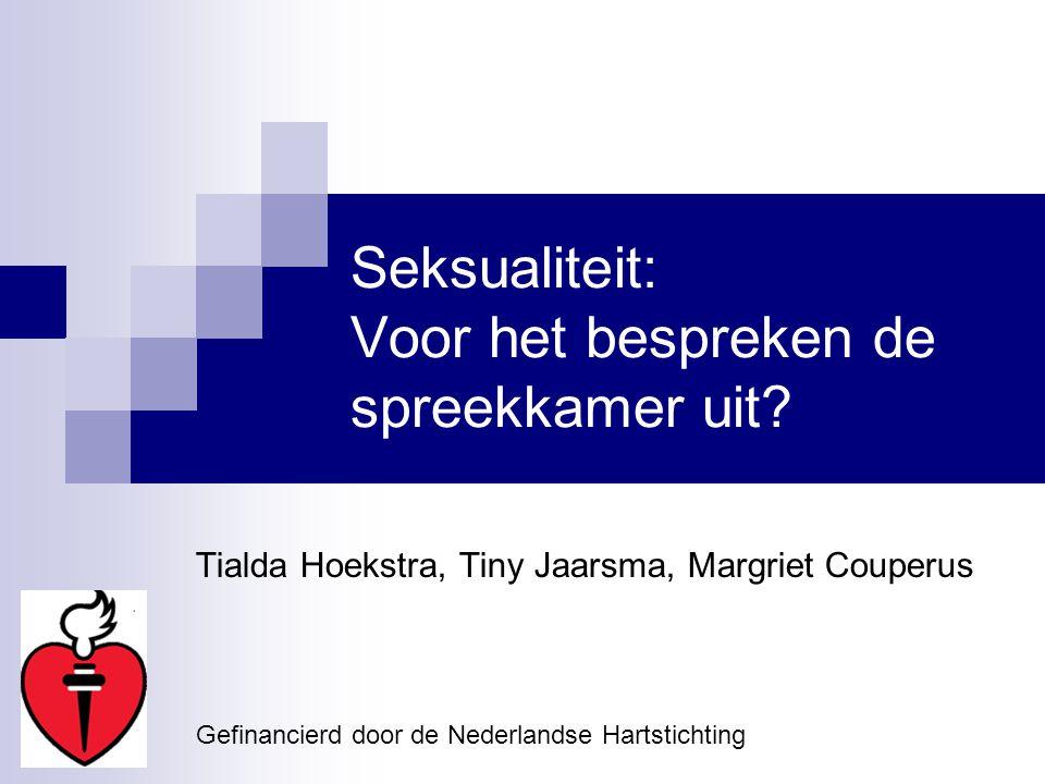 Seksualiteit: Voor het bespreken de spreekkamer uit