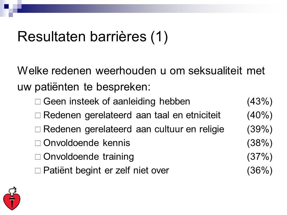 Resultaten barrières (1)